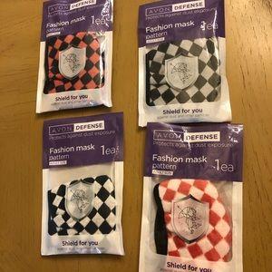 4 Checkered Variety Fashion Masks Non-Medical